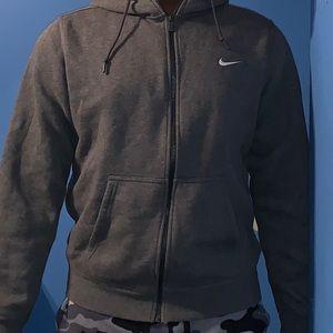 Grey Nike Zip Hoodie